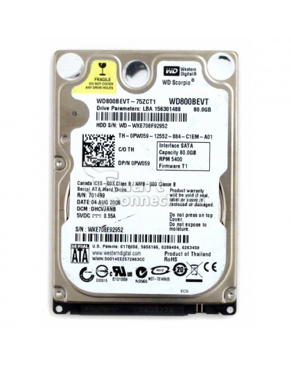 Hard Disk per Notebook 320Gb SATA 2.5 5400 rpm Varie